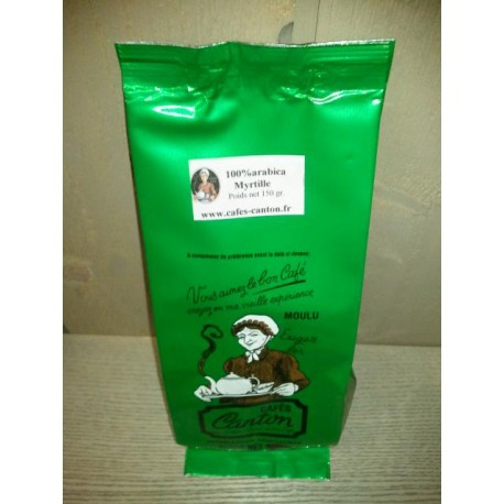 café aromatisé myrtille