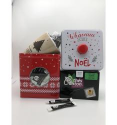 Colis cadeau thé sapin boite Noël