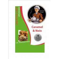 """Dosettes café aromatisé au caramel et noix type """"Senséo"""" par 18"""