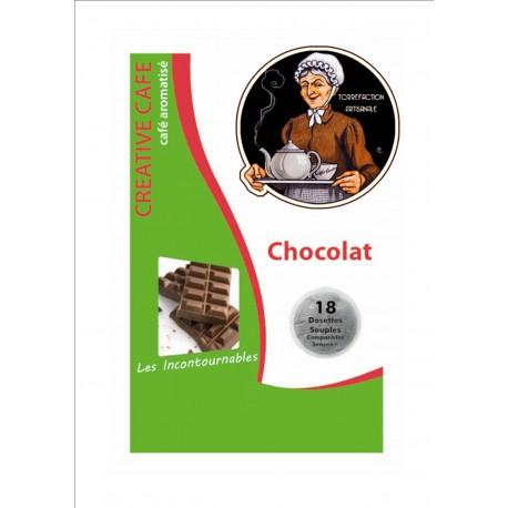 """Dosettes café arômatisé au chocolat type """"Senséo"""" par 18"""
