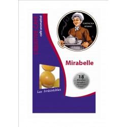 """Dosettes café aromatisé mirabelle type """"Senséo"""" par 18"""