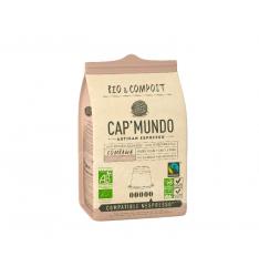 Boite de 10 capsules COMBAWA 70% arabica,100% biologique,100% biodégradable.