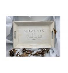 """Plateau bois """"moments en famille"""""""