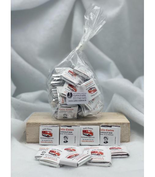 le ballotin de napolitain 5 grammes noir 70% cacao