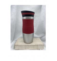 Mug isotherme bandeau rouge 35 cl