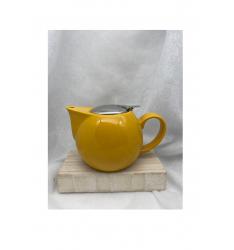 Théière céramique boule jaune 75 cl