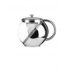 Théière en verre et inox 1.10 L