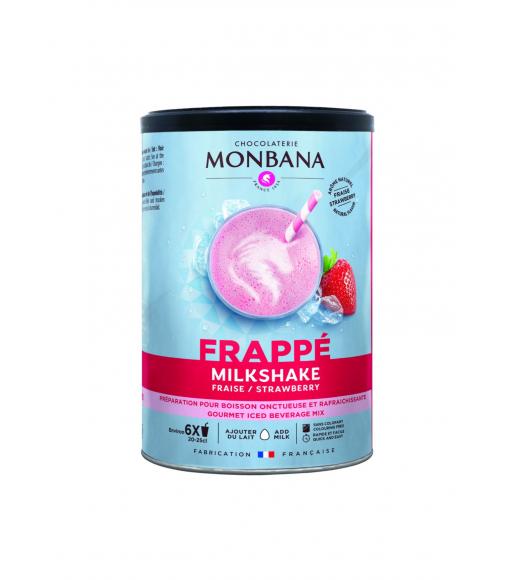 Milkshake frappé saveur fraise