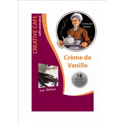"""Dosettes café aromatisé à la crème de vanille type """"Senséo"""" par 18"""