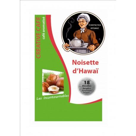 """Dosettes café arômatisé à la noisette type """"Senséo"""" par 18"""